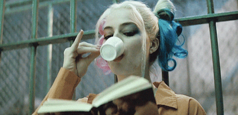 Harley Quinn Sipping Tea
