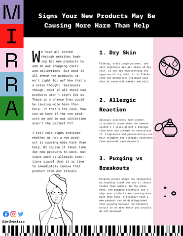 Signs Your New Products May Be Causing More Harm Than Help I Mirra Skincare