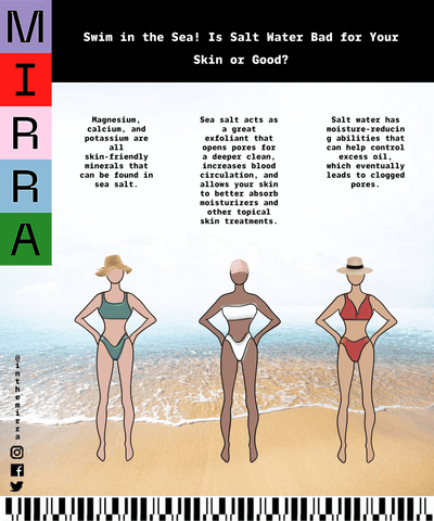 Swim in the Sea! Is Salt Water Bad for Your Skin or Good? | Mirra Skincare