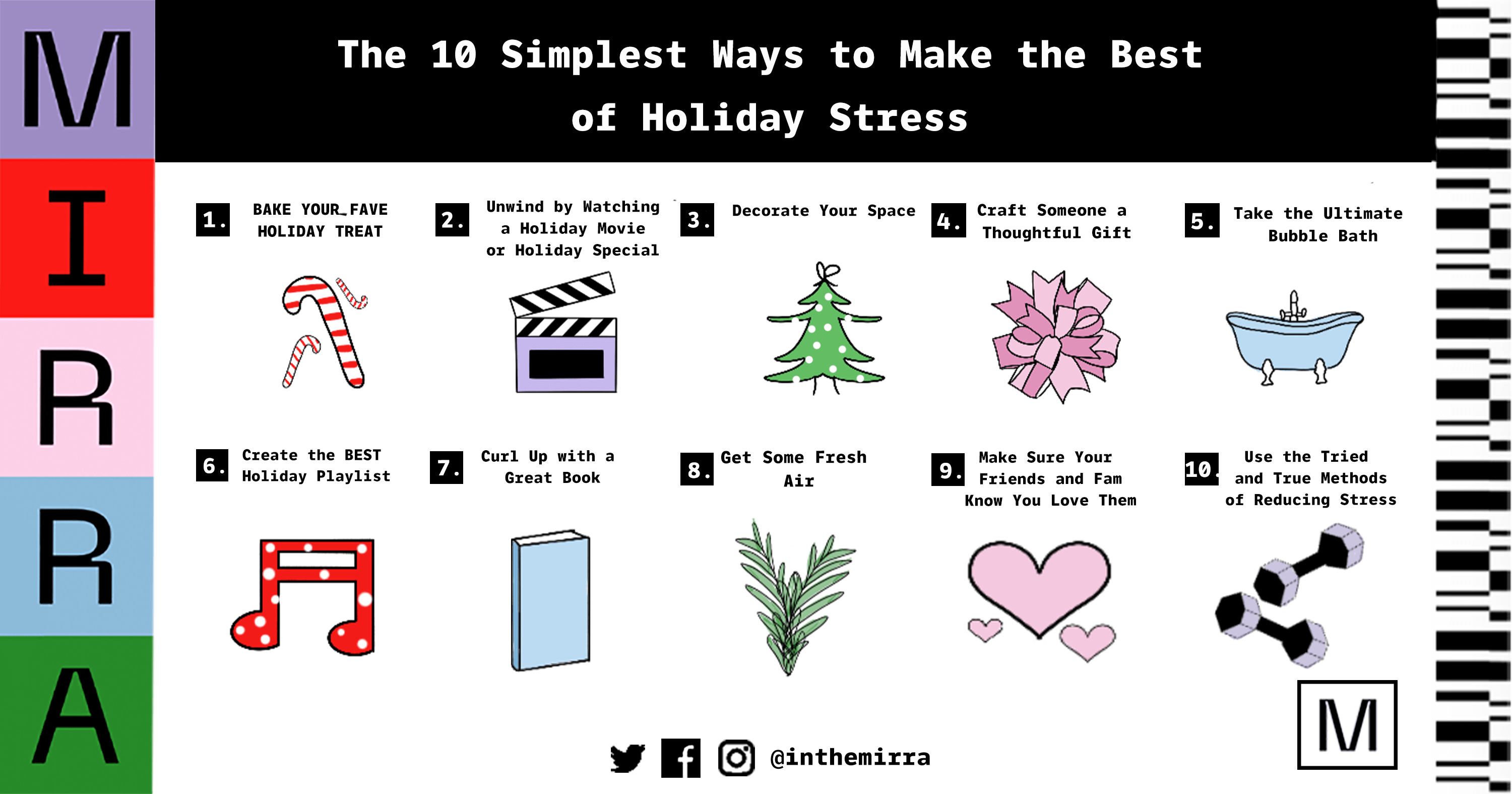 10 tips to make the best of holiday stress Mirra Skincare