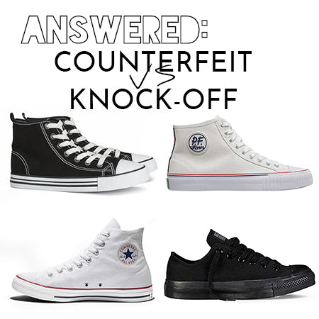 ANSWERED: What's the difference between Counterfeit vs Knock-off
