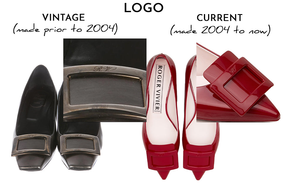 does Roger Vivier use periods in the the RV logo