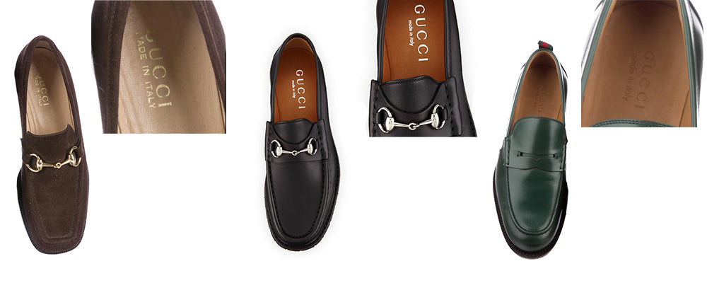 how to authenticate gucci loafers - brand stamp