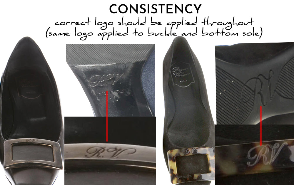 how to authenticate Roger Vivier shoes