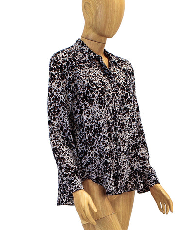 Printed Botton Down Blouse