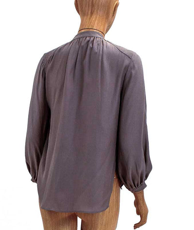 Long Sleeve Silk Henley Top