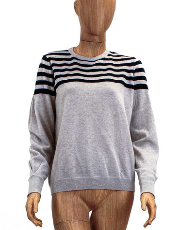 Stripe Cashmere Knit Sweater