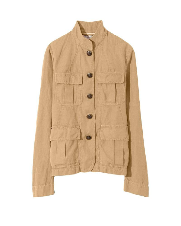 """Cambre"" Patch Pocket Military Style Jacket"