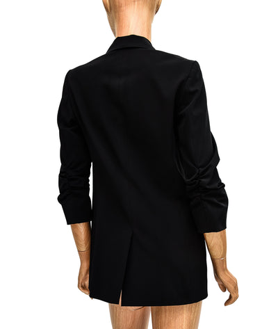 Black Quarter-Sleeve Blazer