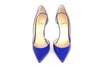 Blue Patent Pumps