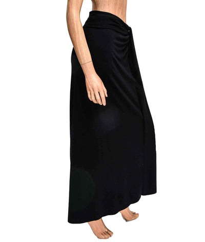 Soft Maxi Skirt with Fitted Waistband
