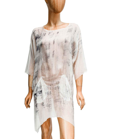 Sheer Silk Tunic with Pockets