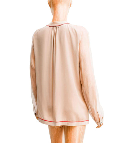 Long Sleeve V-Neck Blouse