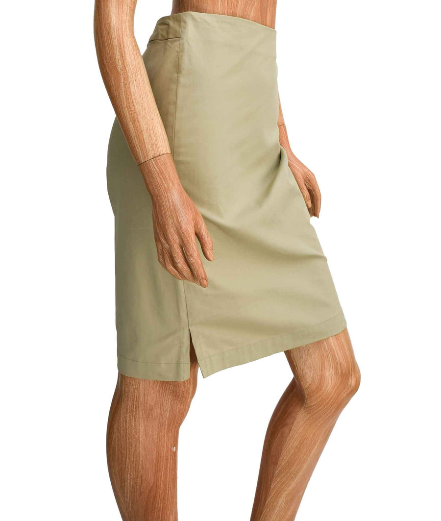 Beige Knee-Length Skirt
