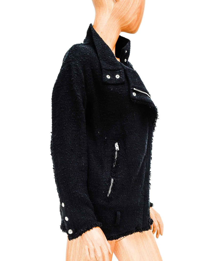 Bouclé Jacket with Silver Hardware
