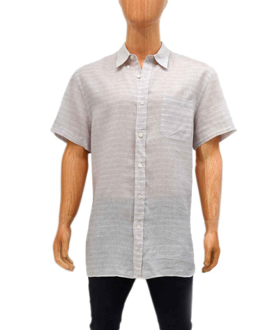 Linen Short-Sleeve Button Down