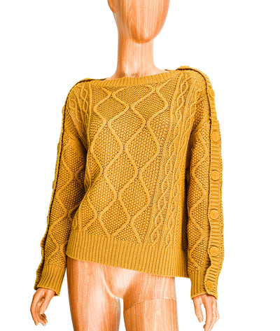 Cable Knit Sweater with Button Details