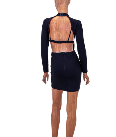Fitted Open Back Mini Dress