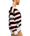 Distressed Varsity Crew Sweater
