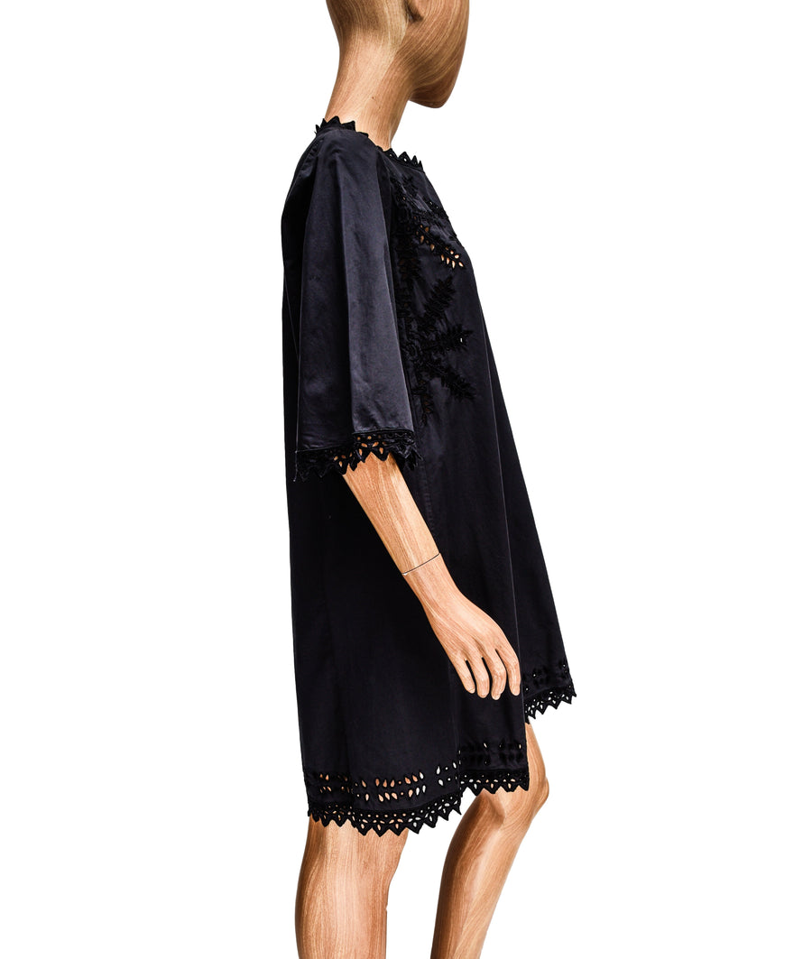 Eyelet Dress with Quarter Sleeves