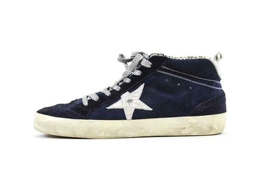 Francy Mid-Top Sneakers in Navy Suede