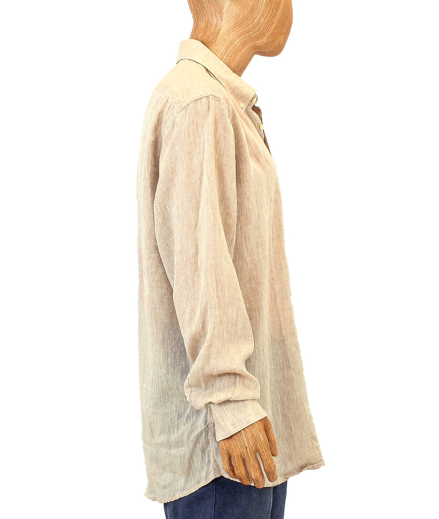 Linen Long-Sleeve Button Down