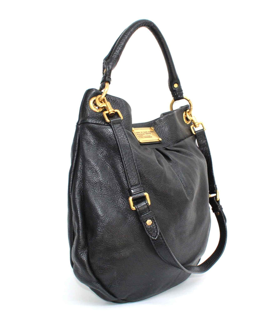 Grained Leather Bag with Shoulder Strap