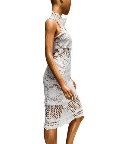 Halter Lace Dress with Cut-Outs