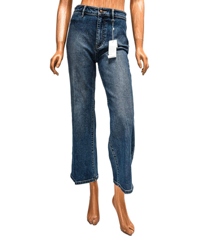 High Waisted Cropped Wide Leg Jeans