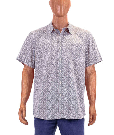 Paisley Short-Sleeve Button Down
