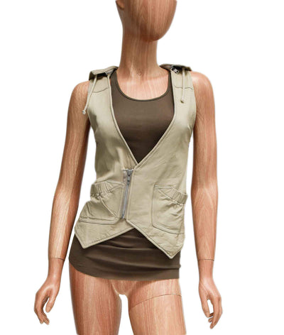 Leather Vest with Tank