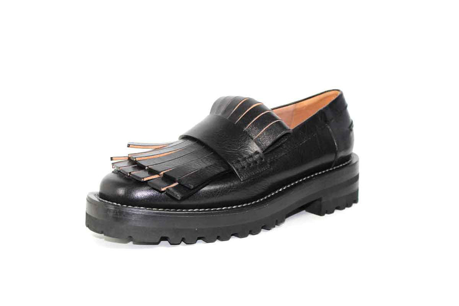 Platform Leather Loafers