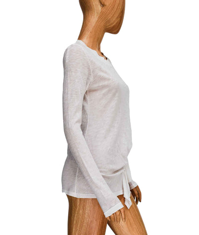 Pleated Long Sleeve Tee