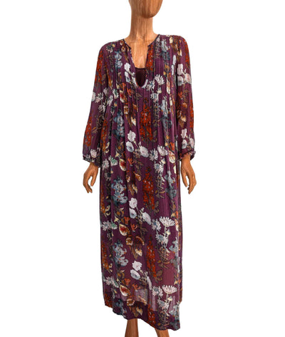 Printed Maxi Dress with Slip