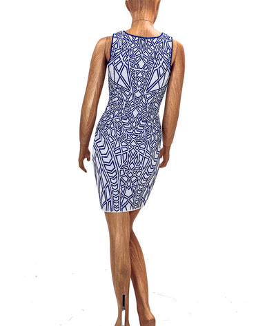 Jacquard Bodycon Mini Dress