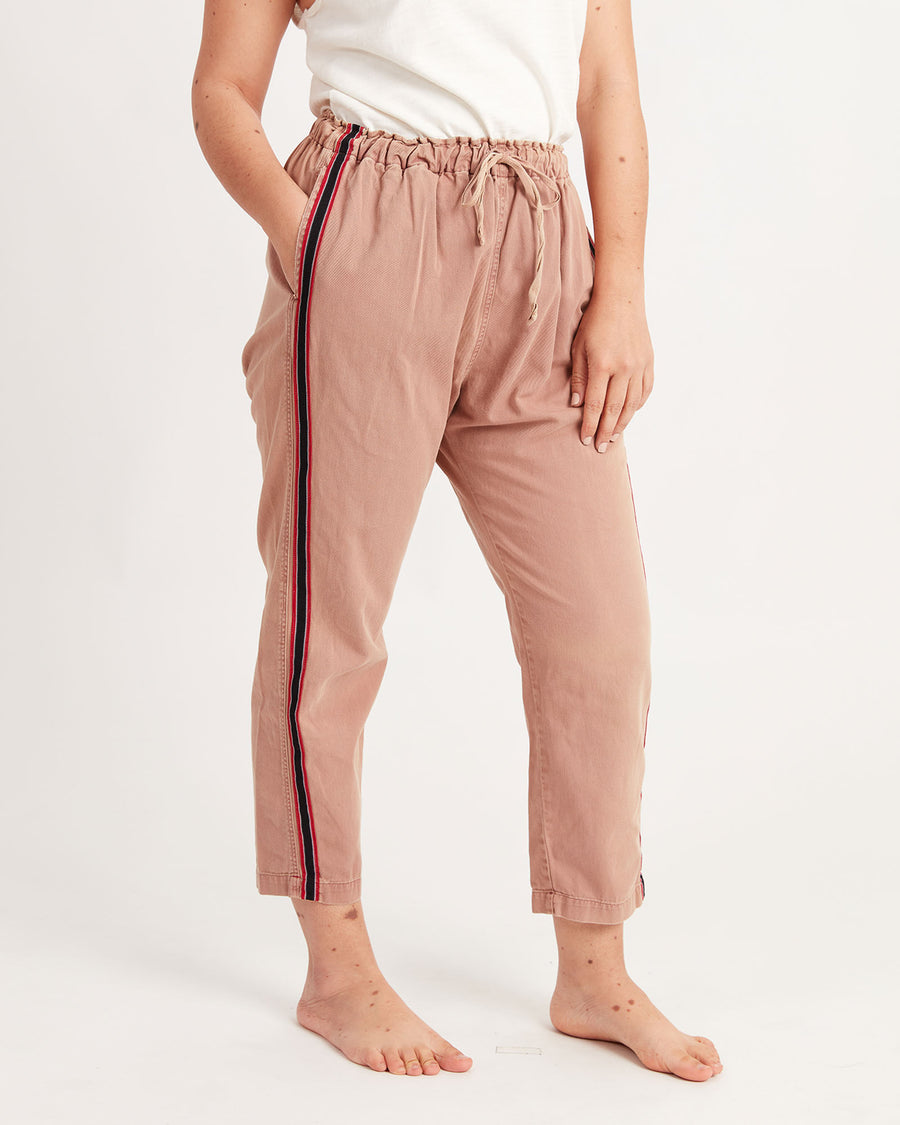 Side Stripe Drawstring Pants