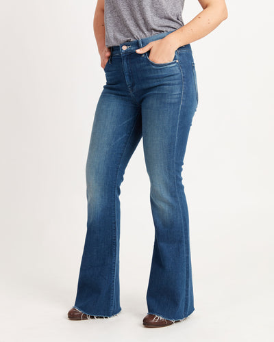 The Weekender Fray Flared Jeans