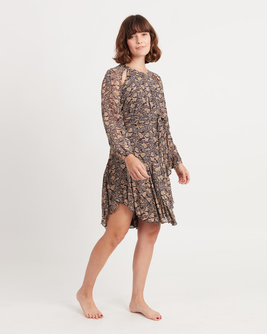 Printed Knee-Length Dress
