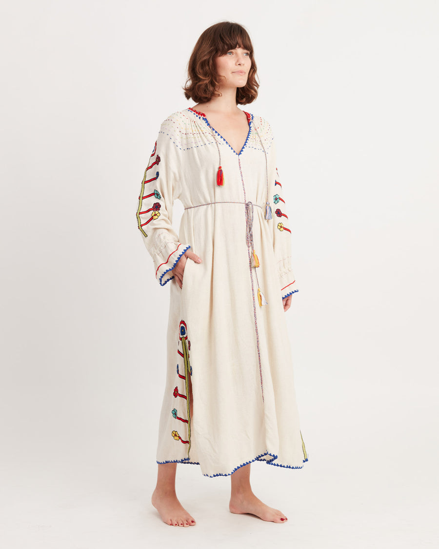 Natalia Embroidered Maxi Dress