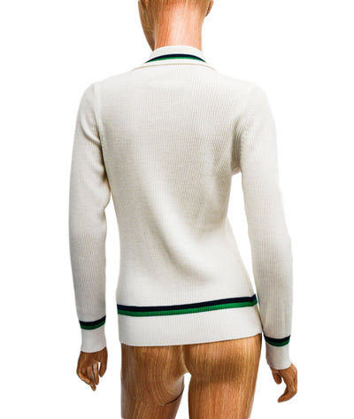 Ribbed Merino Polo Sweater