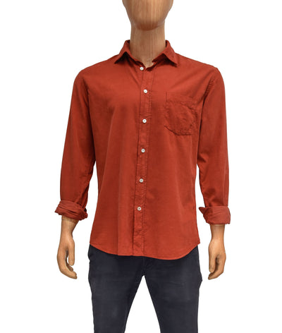 Rust Corduroy Button Down