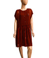 Satin Dress with Frayed Hem and Slip