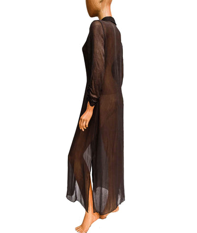 Sheer Maxi Duster with Slit