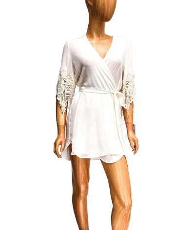 Sheer Silk Mini Robe