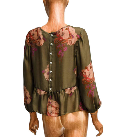 Silk Blouse with Button Closure