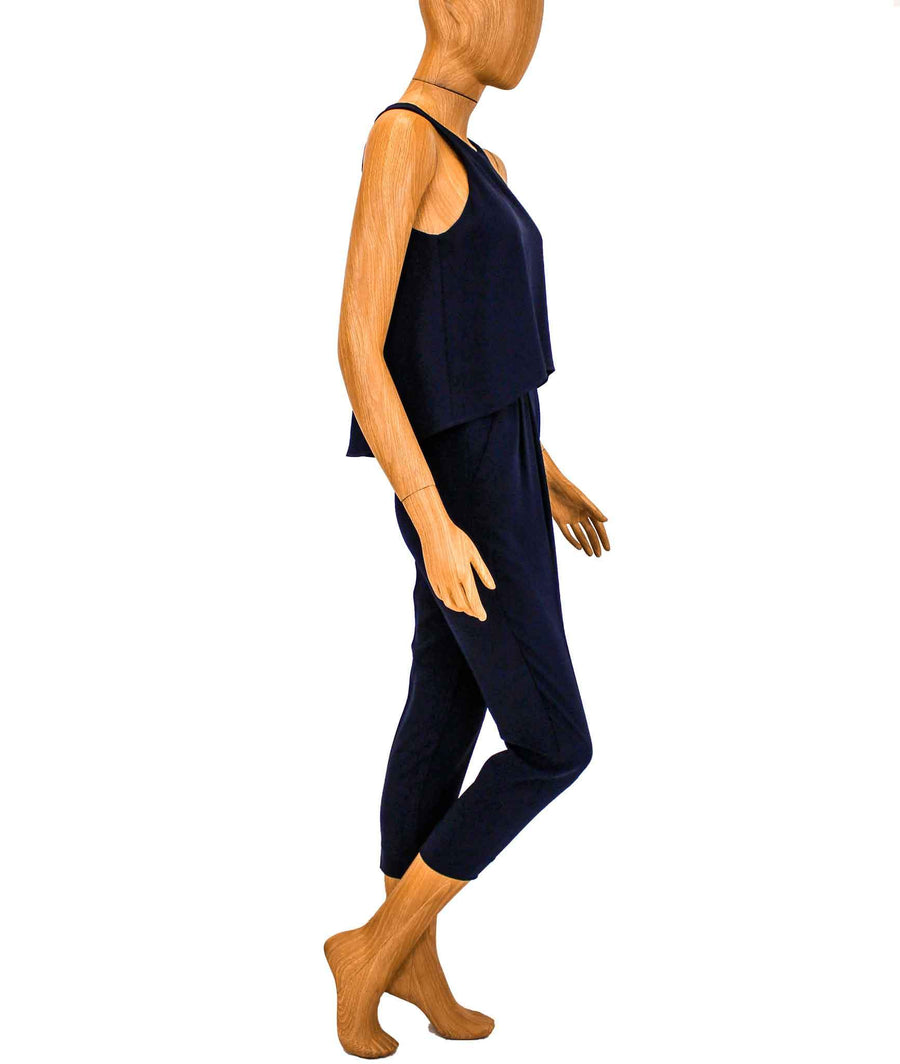 Sleeveless Navy Jumpsuit