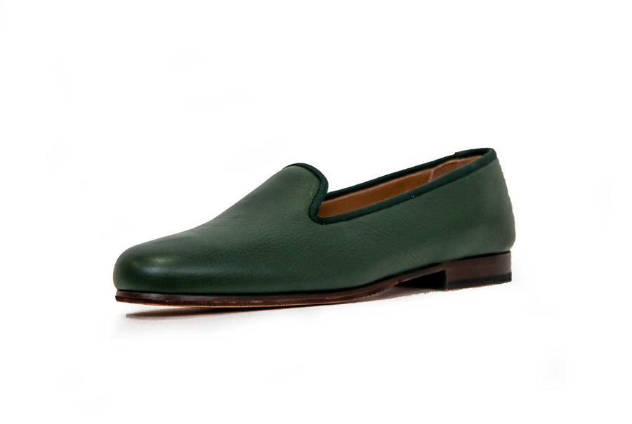 Leather Forest Green Loafers