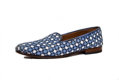 Printed Round Toe Loafers