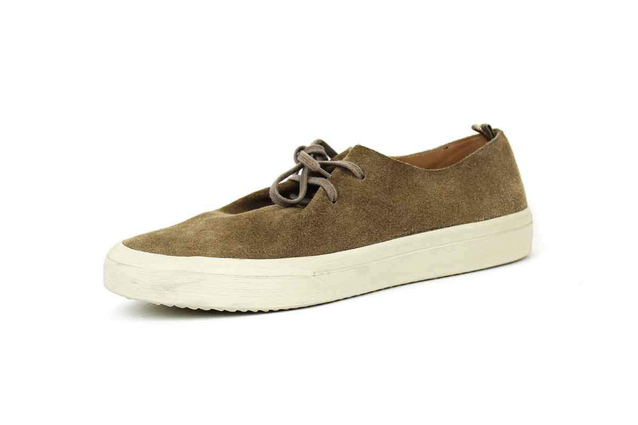 Suede Sneakers in Taupe