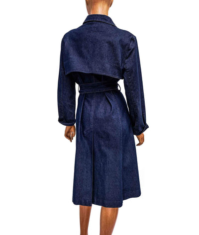 Trench Coat with Button Closure and Waist Tie